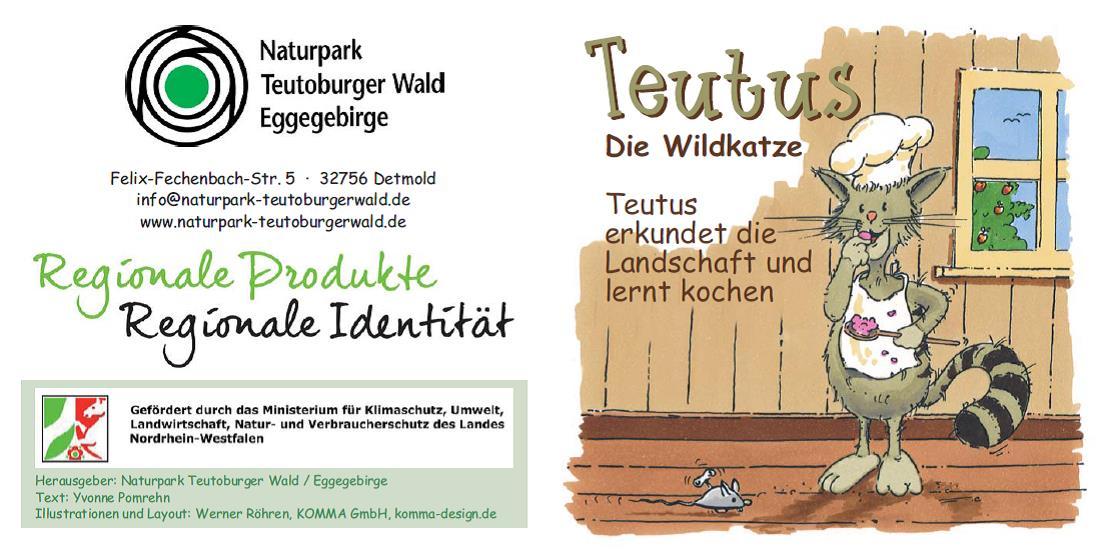 Kinderbuch Teutus die Wildkatze erkundet die Landschaft und lernt kochen