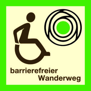Logo barrierefreier Wanderweg