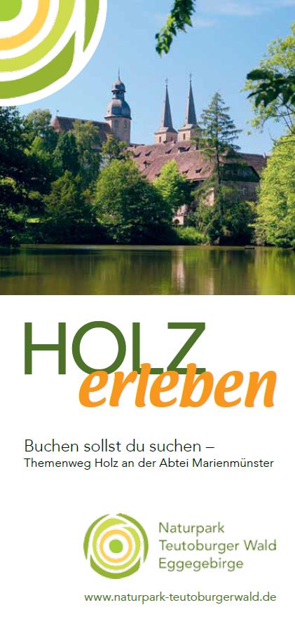 Flyer zum Themenweg Holz in Marienmünster
