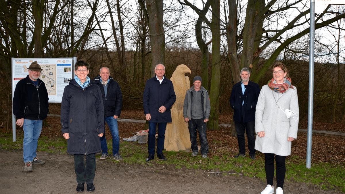Fertigstellung Tierskulpturen an der Altenau bei Lichtenau